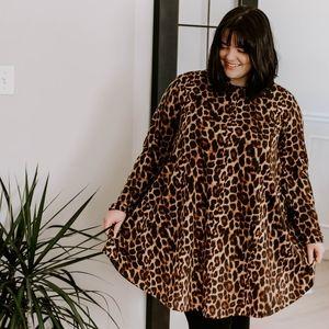 Leopard print Tent Dress from Fox + Wit